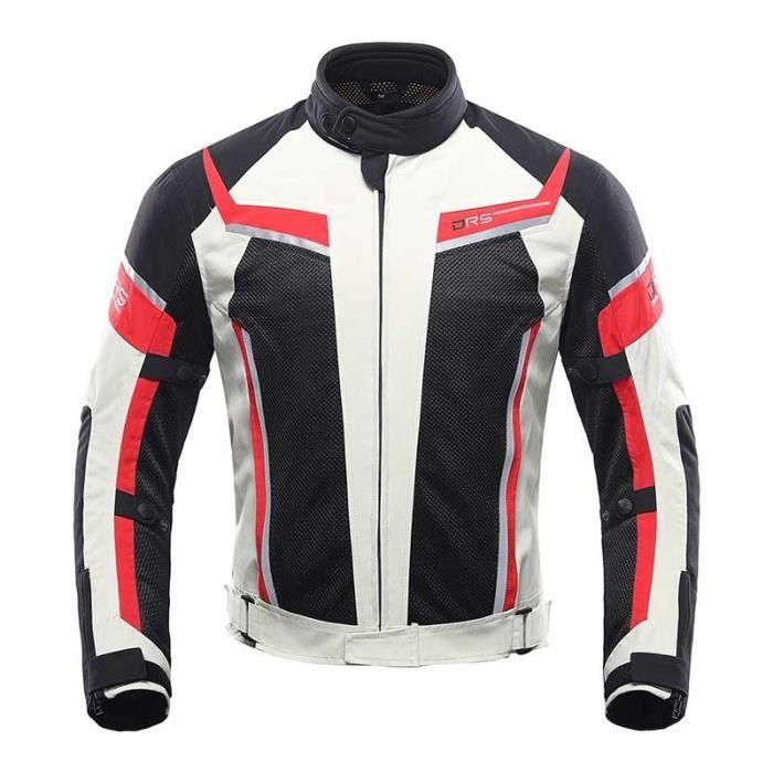 Veste de moto DUHAN pour hommes avec équipement de protection CE