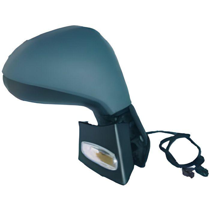 Rétroviseur droit pour PEUGEOT 207+, 2012-2014 rabattable électriquement dégivrant, sonde, à peindre.