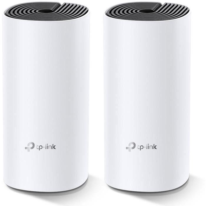 TP-Link Deco M4(2-Pack) Systèmes Mesh WiFi - Couverture WiFi jusqu'à 260m2 - AC 1200 Mbps, Ports Ethernet Gigabit, MU-MIMO