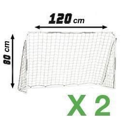 Lot de 2 cages de foot 120 x 80 cm