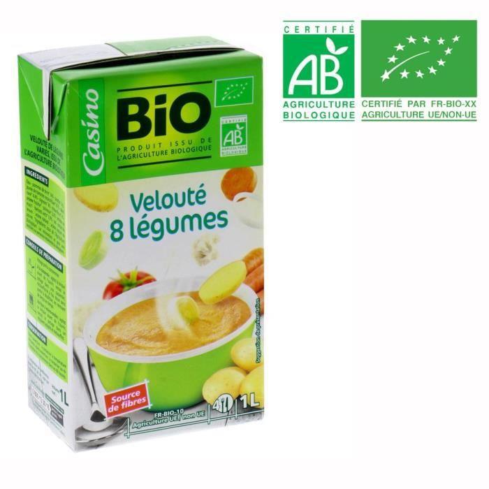Velouté 8 légumes bio - 1L