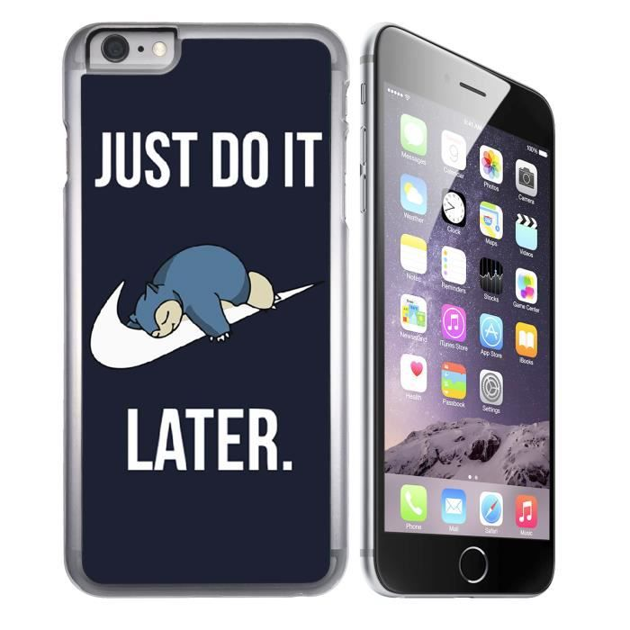 coque iphone 6 6s pokemon ronflex just do it lat