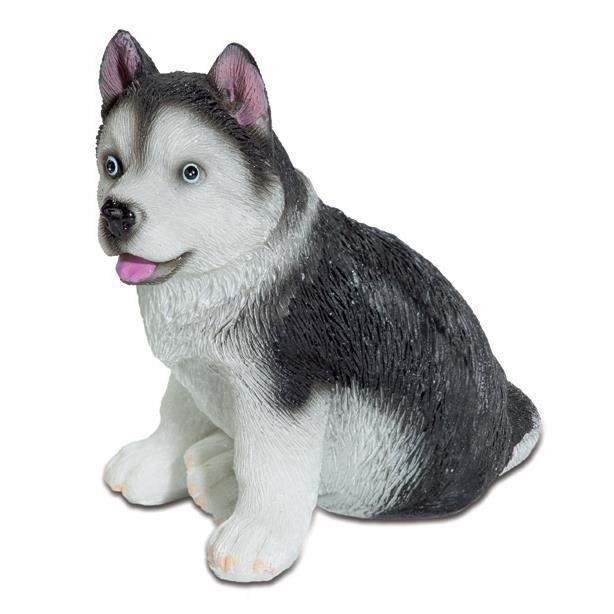 figurine statuette chien b b husky achat vente statue statuette cadeaux de no l cdiscount. Black Bedroom Furniture Sets. Home Design Ideas