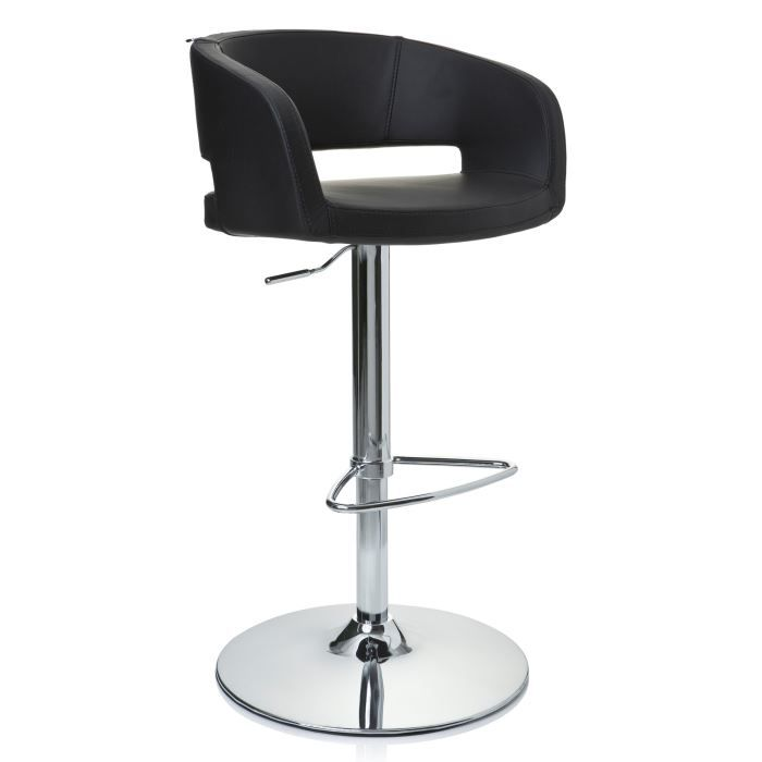 Tabouret De Bar Chaise Haute VITA Chrome Et