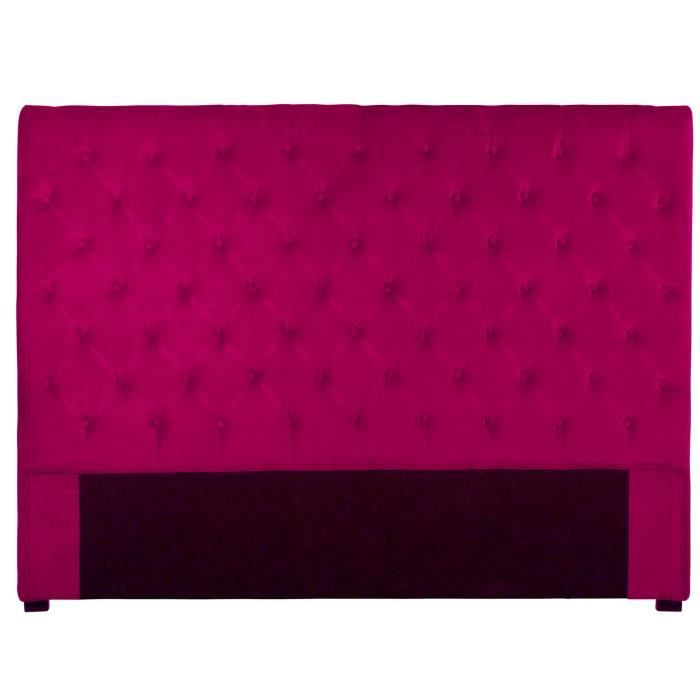 t te de lit capitonn e 140 cm velours fushia am li achat. Black Bedroom Furniture Sets. Home Design Ideas
