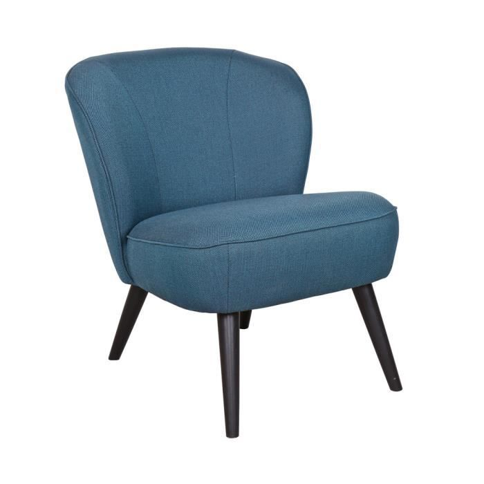 fauteuil cocktail sara couleur bleu p trole achat vente fauteuil bleu black friday le. Black Bedroom Furniture Sets. Home Design Ideas
