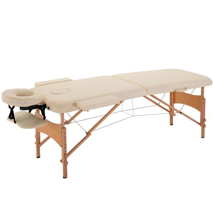 Lit table de massage cosmetique pliable en bois 2 achat vente table de ma - Table massage pliable ...