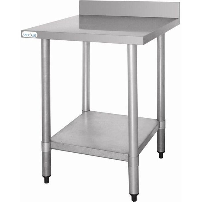 Table L 600 X P 600 Mm De Preparation Vogue En Inox Achat
