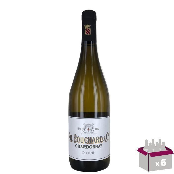 4 ACHETEES = 2 OFFERTES Philippe Bouchard Chardonnay - Vin blanc de Pays d'Oc