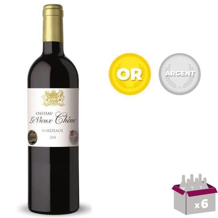 4 achetées + 2 offertes - Château Le Vieux Chêne 2018 Bordeaux HVE3 - Vin rouge de Bordeaux