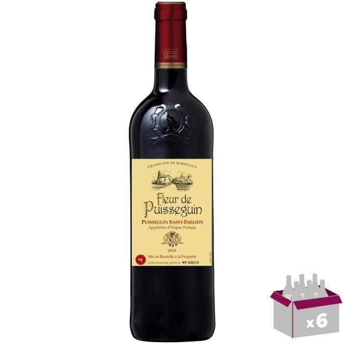 4 achetées + 2 offertes - La Fleur Puisseguin 2018 Puisseguin Saint-Emilion - Vin rouge de Bordeaux