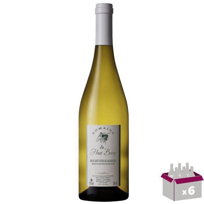 Domaine du Haut Bourg 2018 Muscadet Côtes de Grandlieu Sur Lie - Vin blanc de Loire