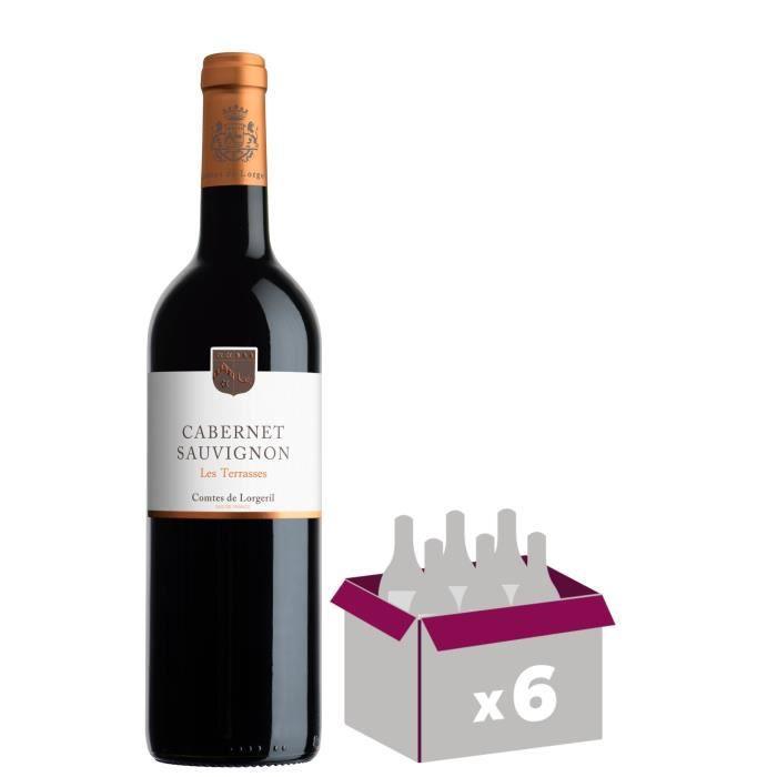 Les Terrasses 2018 IGP Pays d'Oc Cabernet Sauvignon - Vin rouge du Languedoc Roussillon