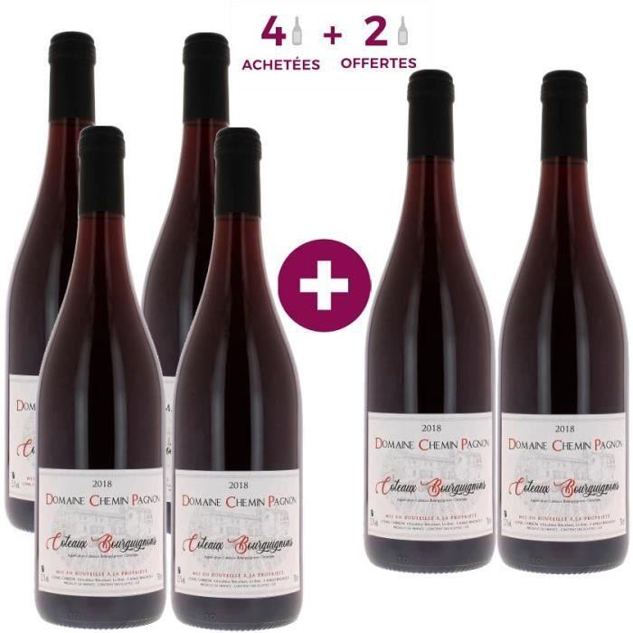 4 ACHETEES + 2 OFFERTES Domaine Chemin Pagnon 2018 Coteaux Bourguignons - Vin rouge de Bourgogne