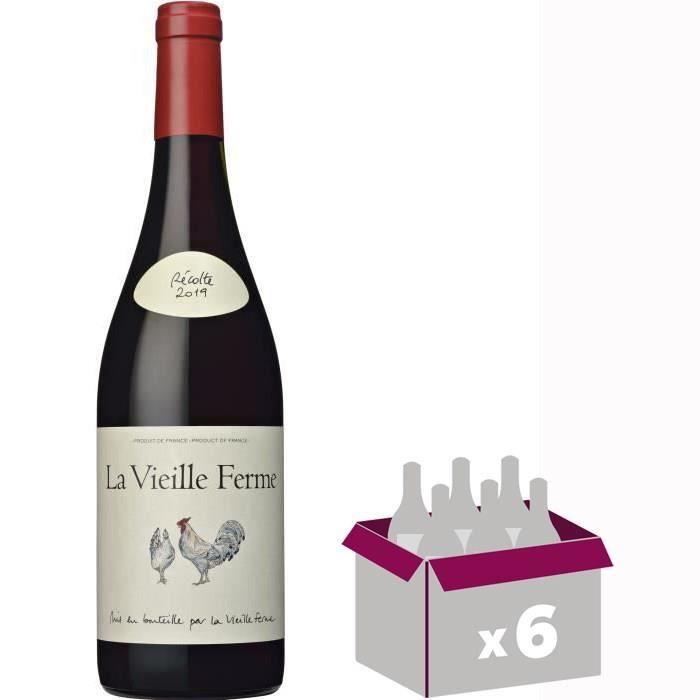4 achetées + 2 offertes - La Vieille Ferme 2019 Ventoux - Vin rouge de la Vallée du Rhône