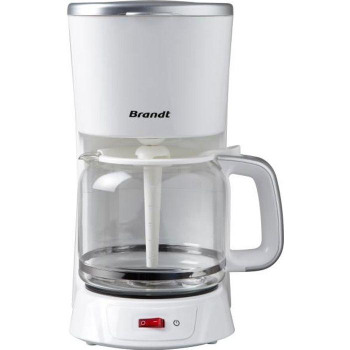 BRANDT CAF1318S Cafetière filtre - Blanc