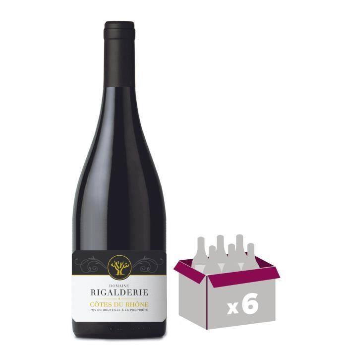VIN ROUGE Domaine de la Rigalderie 2018 Côtes du Rhône - Vin