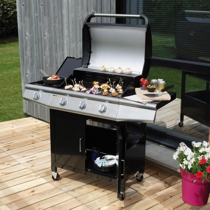 Fidgi barbecue am ricain gaz 3 br leurs side fonte maill e achat v - Vente privee barbecue gaz ...