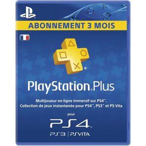 CARTE PRÉPAYÉE Abonnement Playstation Plus 3 Mois PS Vita-PS3-PS4
