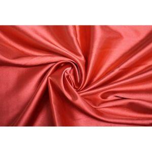 TISSU Tissu Satin Elasthanne Rouge -Au Mètre