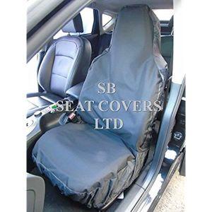 /2/x fa/çades airbag Friendly Heavy Duty Noir Imperm/éable van Housses de si/ège/