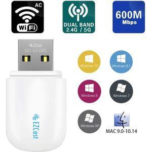 ADAPTATEUR BLUETOOTH Lemorele Clé Adaptateur USB WiFi AC 600Mbps USB Bl