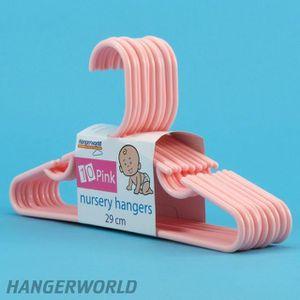CINTRE 100 Cintres enfant en plastique rose, barre pantal