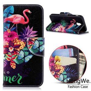 HOUSSE - ÉTUI Coque Galaxy J5 Pro, Etui Housse Flip Leather de P