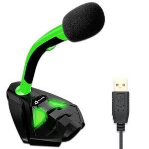 CASQUE AVEC MICROPHONE KLIM Voice Microphone à Pied USB pour Ordinateur -