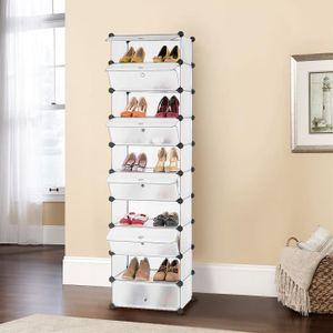 MEUBLE À CHAUSSURES LANGRIA Meuble Rangement à Chaussures avec 10 Cube