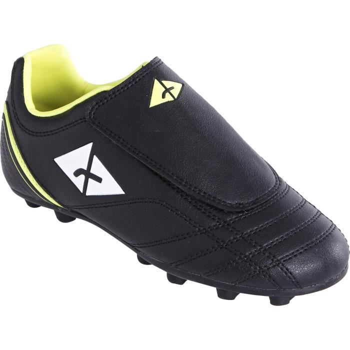 ATHLITECH Chaussures de football FG 104 KD - Terrain sec - Enfant - Noir