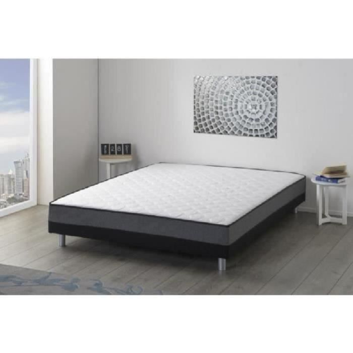whist ensemble sommier matelas 160x200 cm 2 places. Black Bedroom Furniture Sets. Home Design Ideas
