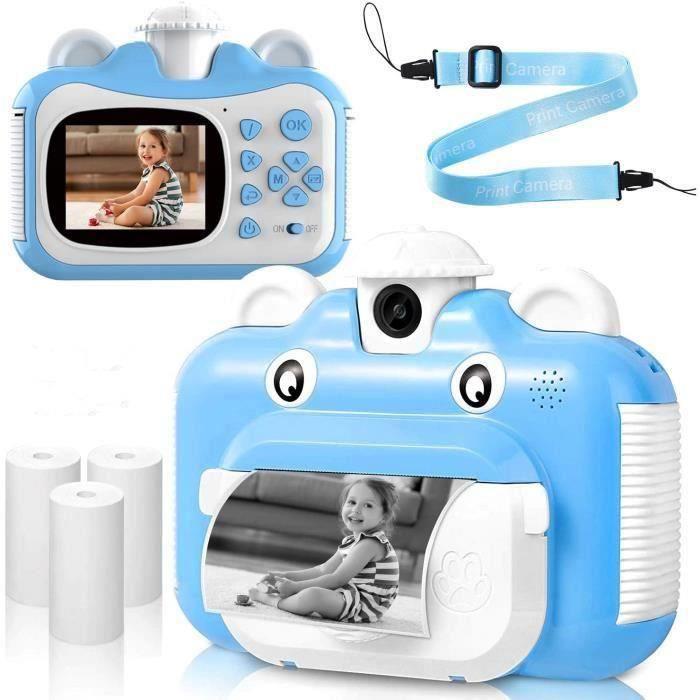 Appareil Photo Enfants à Impression Instantanée avec Papier d'impression,1080P HD avec écran de 2,4 Pouces