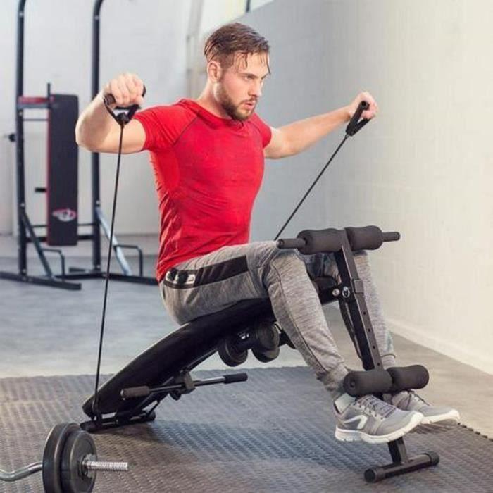 YIDS Banc de musculation pliable pour abdominaux et dorsaux - Charge max 100kg