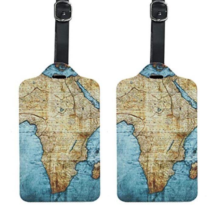 Bracelet De Montre Vendu Seul W1U6W PU cuir Etiquettes de bagages Valise Étiquettes Sac Accessoires Voyage - Lot de 2 (