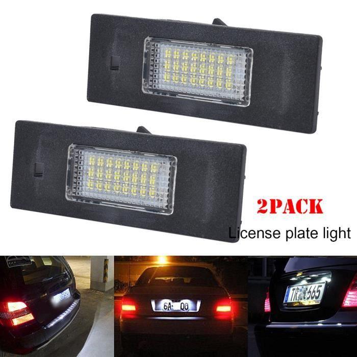 éclairage de la plaque d'immatriculation LED pour BMW 1er E81 E87 F20 3er E46 6er E63 F12 F13 Z4 E89_GYROPHARE_bubizhwo1834