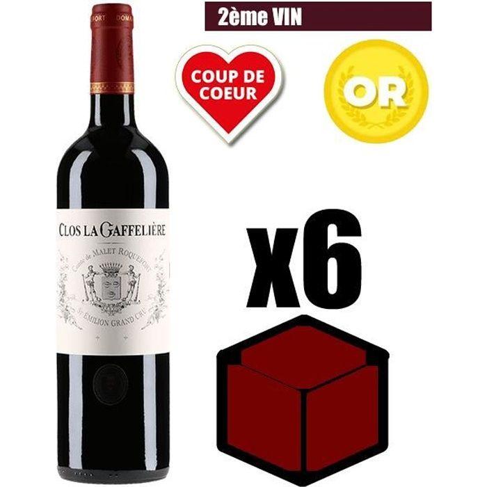 X6 Clos la Gaffelière 2016 75 cl AOC Saint-Emilion Grand Cru Vin Rouge Second Vin