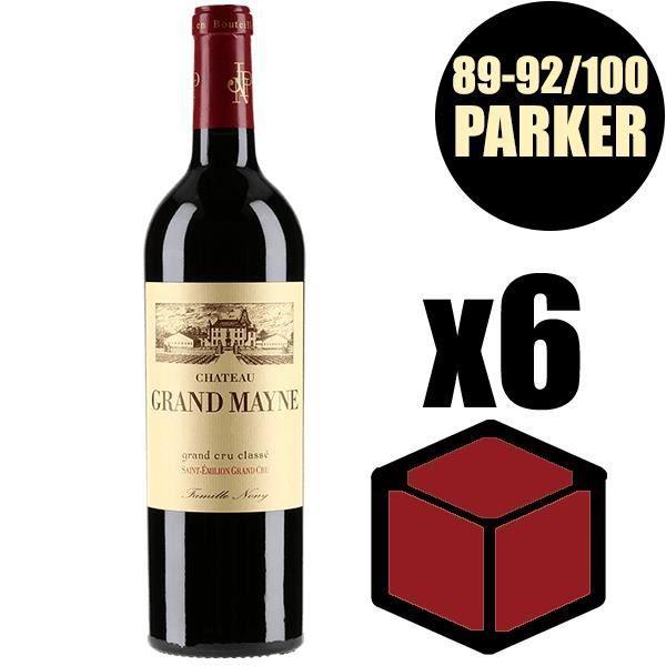 X6 Château Grand-Mayne 2014 75 cl AOC Saint-Emilion Grand Cru Classé Rouge Vin Rouge