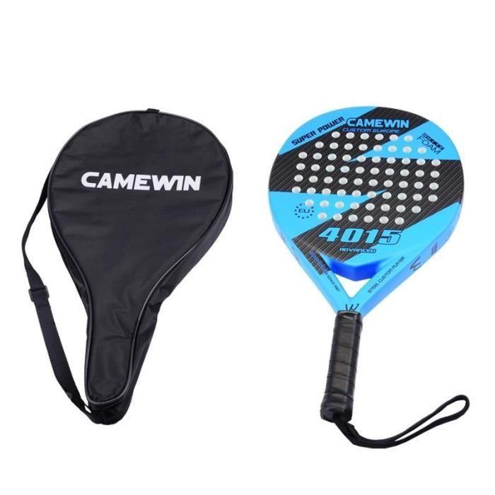 [r11] Raquette de tennis padel en fibre de carbone, raquette de tennis paddle soft face avec raquettes de couverture de sac