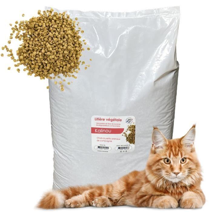 Litière Pour Chats végétale naturelle 30 Litres - Kalinou
