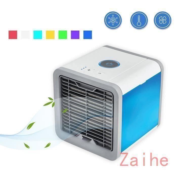 Climatiseur Mobile Silencieux GOHYO Mini Ventilateur USB Portable Humidificateur Purificateur 7 Couleurs pour Maison Bureau