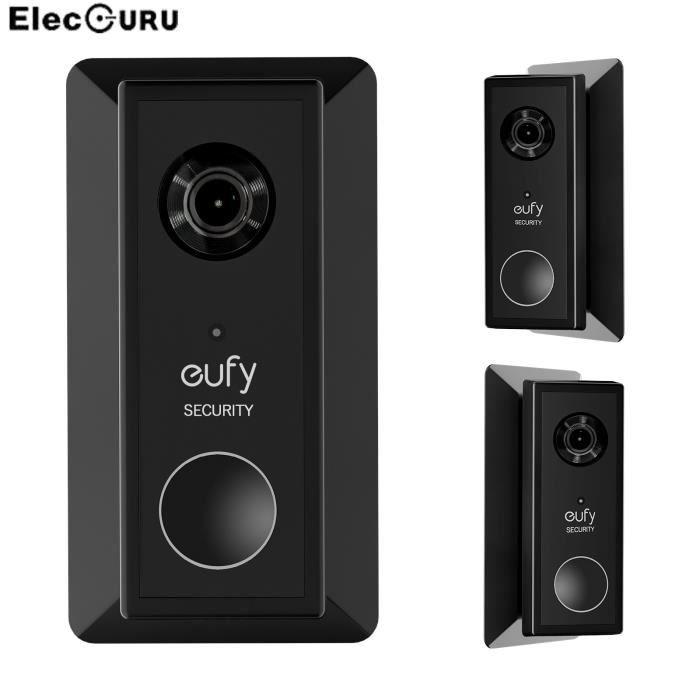Plaque murale pour sonnette vidéo à batterie Eufy, panneau de sonnette élégant, support de réglage gauche et droit à [85C707A]