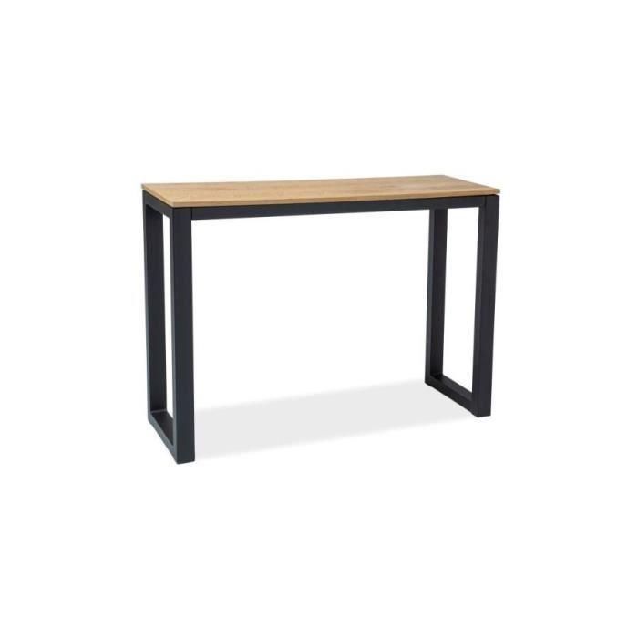 UMBERTU - Console moderne style loft salon/chambre/bureau - Dimensions 120x85x36 cm - Bois + acier - Table haute style industriel -