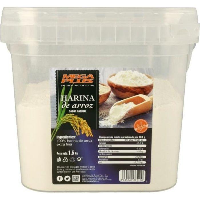 Mega Plus+Farine de riz (arôme naturel) 1,5 kg