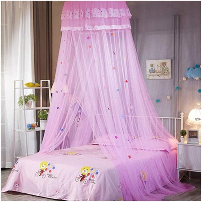 Lit à baldaquin en moustiquaire pour chambre d'enfants crypté en fil hexagonal dôme de bande dessinée en tissu de dentelle ridea,304