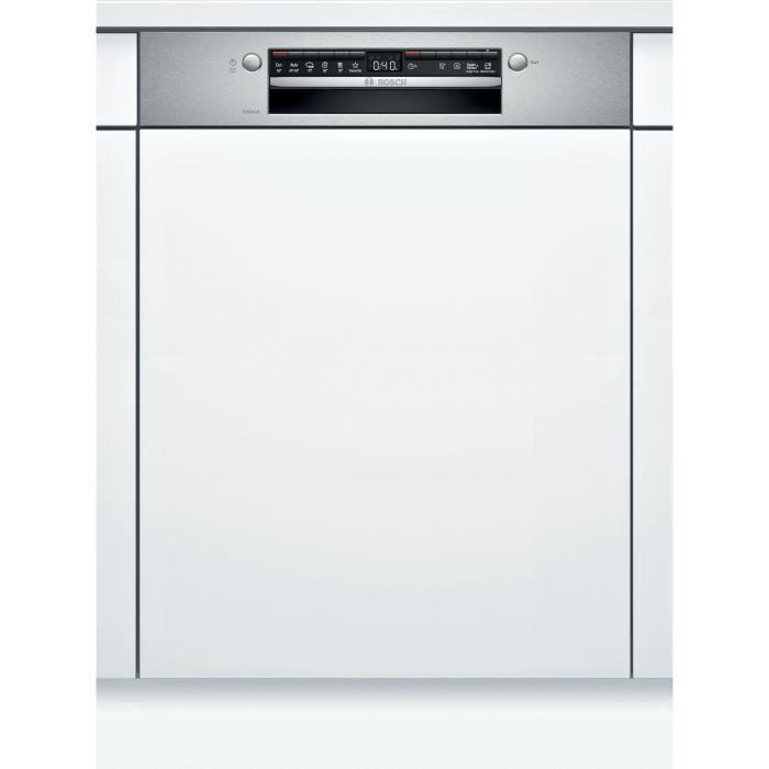 Lave-vaisselle encastrable BOSCH SGI4HVS31E Série 4 - 13 couverts - Induction - L60cm - 46 dB - Bandeau Inox