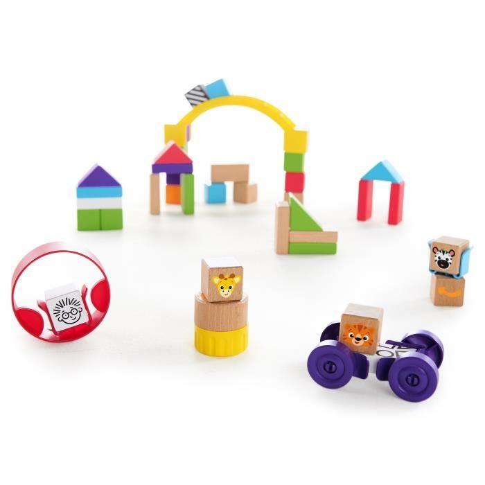 HAPE-BABY EINSTEIN blocs de constructions en bois Baby Einstein - Cubes de découverte en bois
