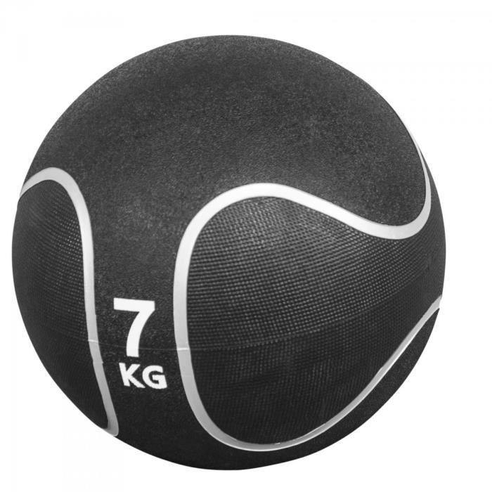 Gorilla Sports - Médecine ball style noir-gris de 1kg à 10kg - 7 KG