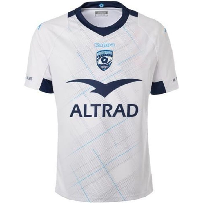 Enfant - Maillot Kombat Montpellier Hérault Rugby Away 19-20 Blanc 12Y