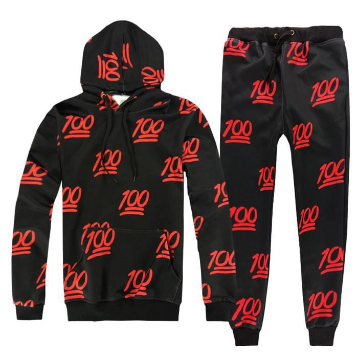 Hommes Automne Hiver Pull Sweat Top Pantalon Ensembles Sport Suit Survêtement LZZ81201631M_oaw